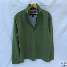 Banana Republic Half Zip Fleece Pull Over Top Drab Army Green Men M