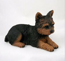 YORKIE DOG Figurine Statue Hand Painted Resin Yorkshire Terrier Gift Puppy cut