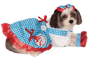 Dorothy Dog Costume - MEDIUM - Hair Bow, Dress, Ruby Slippers - Wizard of Oz NWT