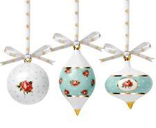 Royal Albert POLKA ROSE Traditional Holiday Ornament(s) SET OF 3 Porcelain New