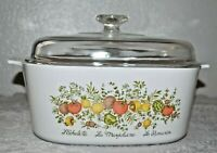 Vintage 5 QT Corning Ware Spice of Life Casserole Dish With Lid