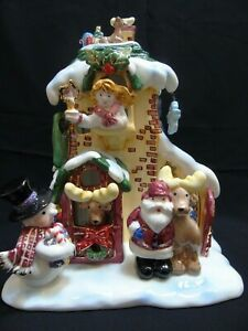 2002 Grandeur Noel Lighted Ceramic Holiday House Collectors Edition