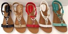 Wedge Elastic Ankle Strap Sandals & Flip Flops for Women