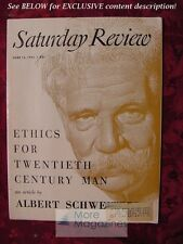 Saturday Review Magazine June 13 1953 ALBERT SCHWEITZER FLETCHER PRATT
