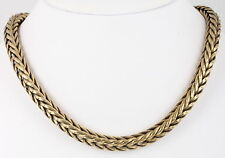 BRASS HEAVY ROPE CHAIN MAGNETIC CLASP NECKLACE 100.4 GR FASHION 0354B