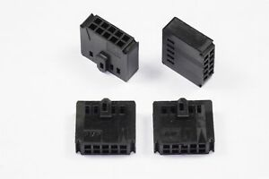 Lot of 4 102387-1 AMP Connector Housing Receptacle 2 Row 10 Position 2.54mm NOS