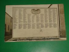 ZU061 Vintage 1919 RPPC Edgerton Wisconsin Monument Our Honor Roll