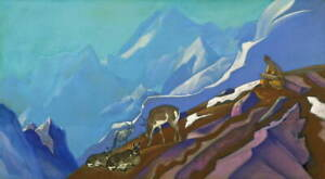 Nicholas Roerich The Book of Life Giclee Canvas Print Painting Poster LARGE SIZE