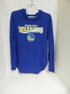 Golden State Warriors WOMENS Tshirt Hooded Blue GIII 4her Sample-Medium