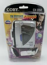 Coby Cx-D50 Stereo Cassette Player w/ Fm Radio & Professional Stereo Headphones