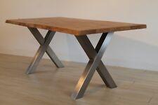 Bausatz X-Optik Tischgestell, Easy Installation, 1Stück Tischkufe, Edelstahl VA