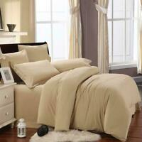 BED SHEET SET BEIGE SOLID 800 THREAD COUNT EGYPTIAN COTTON CHOOSE SIZES