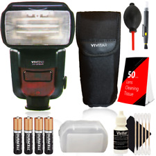 Vivitar Df-864 Speedlight Flash w/ Accessories for Nikon D5600, D7100 and D7200