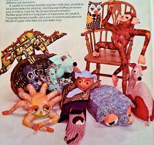 1970s Retro Stuffed Toy Book Frith Owl Dinosaur Camel Kangaroo Monkey Spider