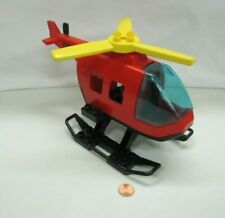 Lego Duplo RED HELICOPTER EQUIPMENT VEHICLE for Firefighters Firemen Vintage