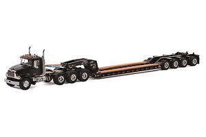"Mack Granite Truck w/ 4 Axle Rogers Lowboy Trailer ""BLACK"" - 1/50 - WSI #33-2010"