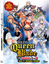 Anime DVD Queen Blade Season 1 - 3 Vol. 1-36 End 6 OVA English Dub Uncensored