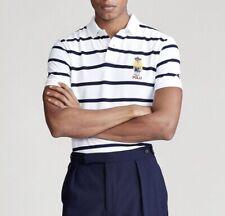 $125 NWT Brand New Polo Ralph Lauren Mens CP-93 Polo Bear Striped Mesh Shirt XXL