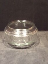 "Vintage Huge Clear Glass Low Turtle Fish Bowl Terrarium 12"" Wide x 7"" Tall -Exc"