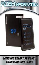 SAMSUNG GALAXY S9 G960U RICONDIZIONATO 64GB GRADO A+ NERO GARANZIA 1 ANNO