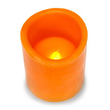 Darice® LED Pumpkin Spice Scented Pillar Candle w/Timer: 4 inches w