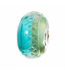 TROLLBEADS Bead Glas Mint Mesh Limited TGLBE-30051 NEU