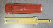 VINTAGE PICKETT & ECKEL N600-ES Log Speed Slide Rule Leather Case Chicago 1962