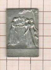 Banque :petite plaque argent peu commune par Riberon : Bq de l'union parisienne