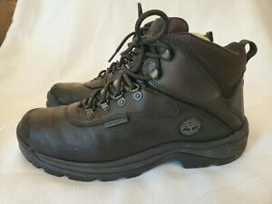 Timberland Mens White Ledge Mid Waterproof Ankle Boot Black Leather 9.5 6S1