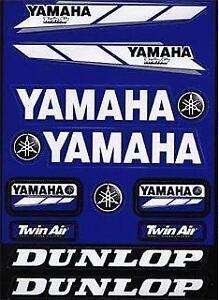 autocollant décalcos A4 Yamaha Dunlop Twin Air