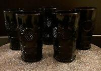 AVON CAPE COD RUBY RED GLASS - TUMBLERS/GLASSES - SET OF 5