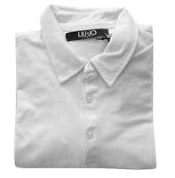 Polo T-shirt basica Liu-jo maglia maniche corte short sleeves 100% COTONE taglia