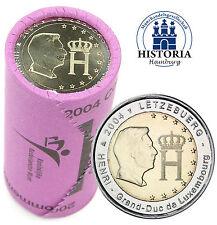 25 x Luxemburg 2 Euro Münzen 2004 Monogramm des Großherzoges in Rolle