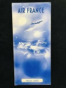 AIR FRANCE Airline Rare Original REGIONAL TIMETABLE BROCHURE BOOK, 1949 Paris