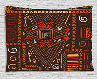 Tribal Tapestry Aboriginal Cave Figures Print Wall Hanging Decor 60Wx40L Inches