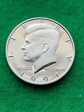 1991- S -  Kennedy Half dollar- cameo   Uncirculated- proof **free ship**