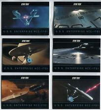 Star Trek The Movie 2009 Complete USS Enterprise NCC-1701 Chase Card Set E1-6