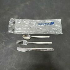 VTG IcelandAir Flatware Set Stainless Steel Fork Knife Spoon Original Packaging