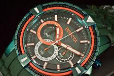 29082 Invicta 50MM Bolt Multi Color Chronograph Dial GREEN TONE Strap Watch NEW