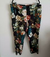 Chicos So Slimming Pants Size 4 US 20 2X Juliet Slim Ankle Floral Womens