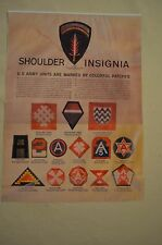 Vintage US Army Unit Shoulder Insignias WWII Photo Copy