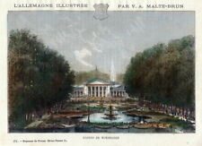 Wiesbaden, casinò. kolorierter a mano per chiave 1885, Malte-Brun