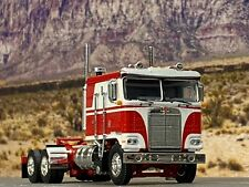 "1/64 DCP RED/WHITE KENWORTH K100 W/ 110"" SLEEPER"