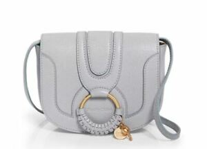 See by Chloe Authentic Hana Mini Leather Xbody Color: Artic Ice/ Gold ~DUST BAG