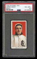 Rare 1909-11 T206 Harry Lentz Sentz Old Mill Southern League PSA 4.5 VG - EX +