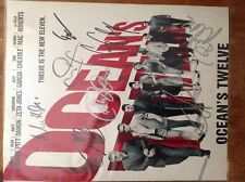 oceans 12 signed very rare photo with proof and 8 signatures!!!