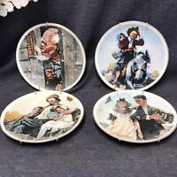 """NORMAN ROCKWELL JAPAN FINE PORCELAIN MADE EXCLUSIVELY FOR IMM 6 1/2"""" - SET OF 4"""