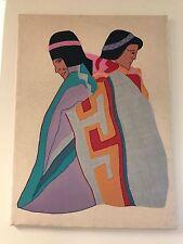 "Don Freedman Gorgeous Couple Fabric on Fabric 28 x 34 """