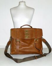 MULBERRY TED - OAK NVT Grain Leather Crossbody Backpack Briefcase Satchel Manbag