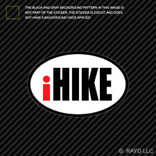 iHike Oval Sticker Decal Self Adhesive Vinyl euro hike hiking backpack outdoors